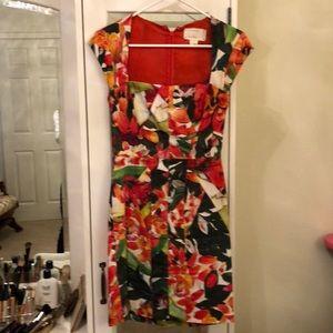 Nicole Miller Floral Lined Dress